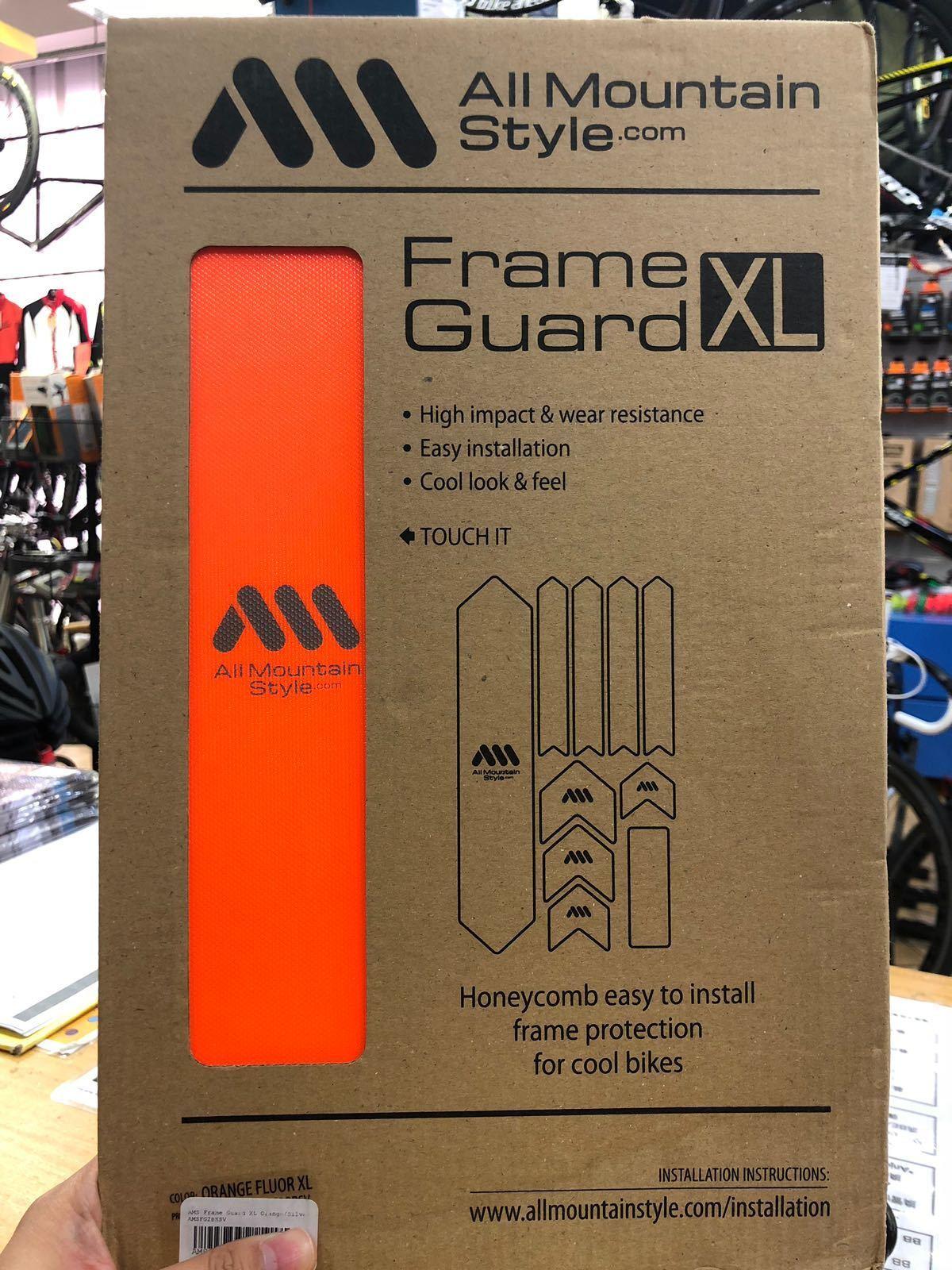 All Mountain Style AMS Frame Guard XL orange Sliver
