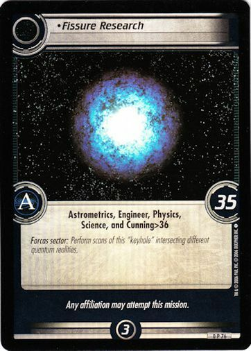 Star Trek CCG 2E Promo Fissure Research FOIL 0P76