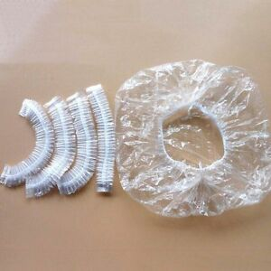 100-x-Disposable-One-off-Hotel-Shower-Bathing-Clear-Hair-Elastic-Caps-S