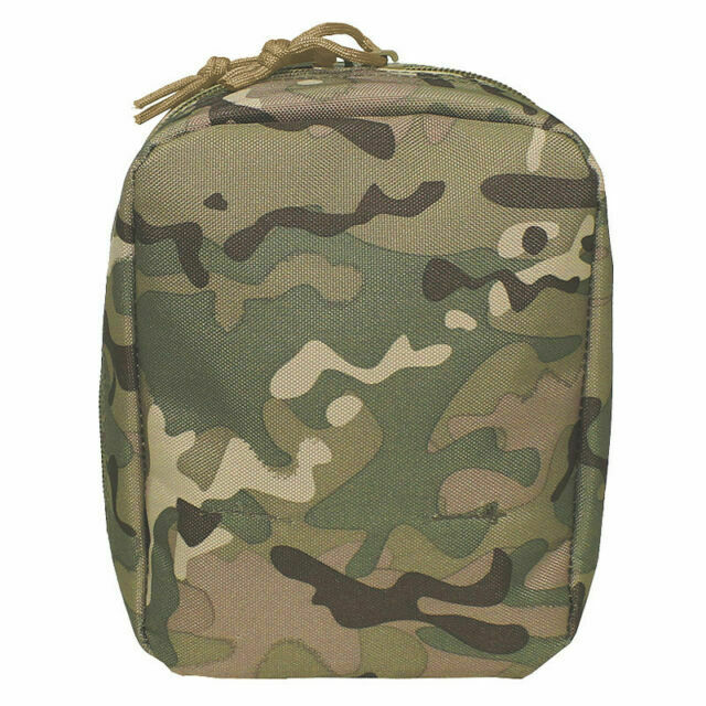 Military Style Small Utility Pouch Op Camo Multicam Molle Airsoft Mfh 30613x