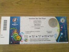 Ukraine Final Voucher for Euro 2016 Ticket Un-used due to failure to Qualify