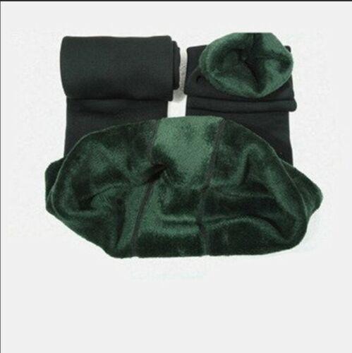 Pantalones de invierno mallas de cintura alta térmicas para mujer new