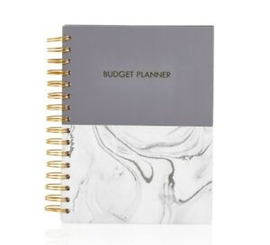 monthly budget planner book money accounts gold spend finance