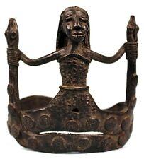 Art Africain - Bracelet Bijoux en Bronze - Effigie de Mami Wata - 11,5 Cms +++++