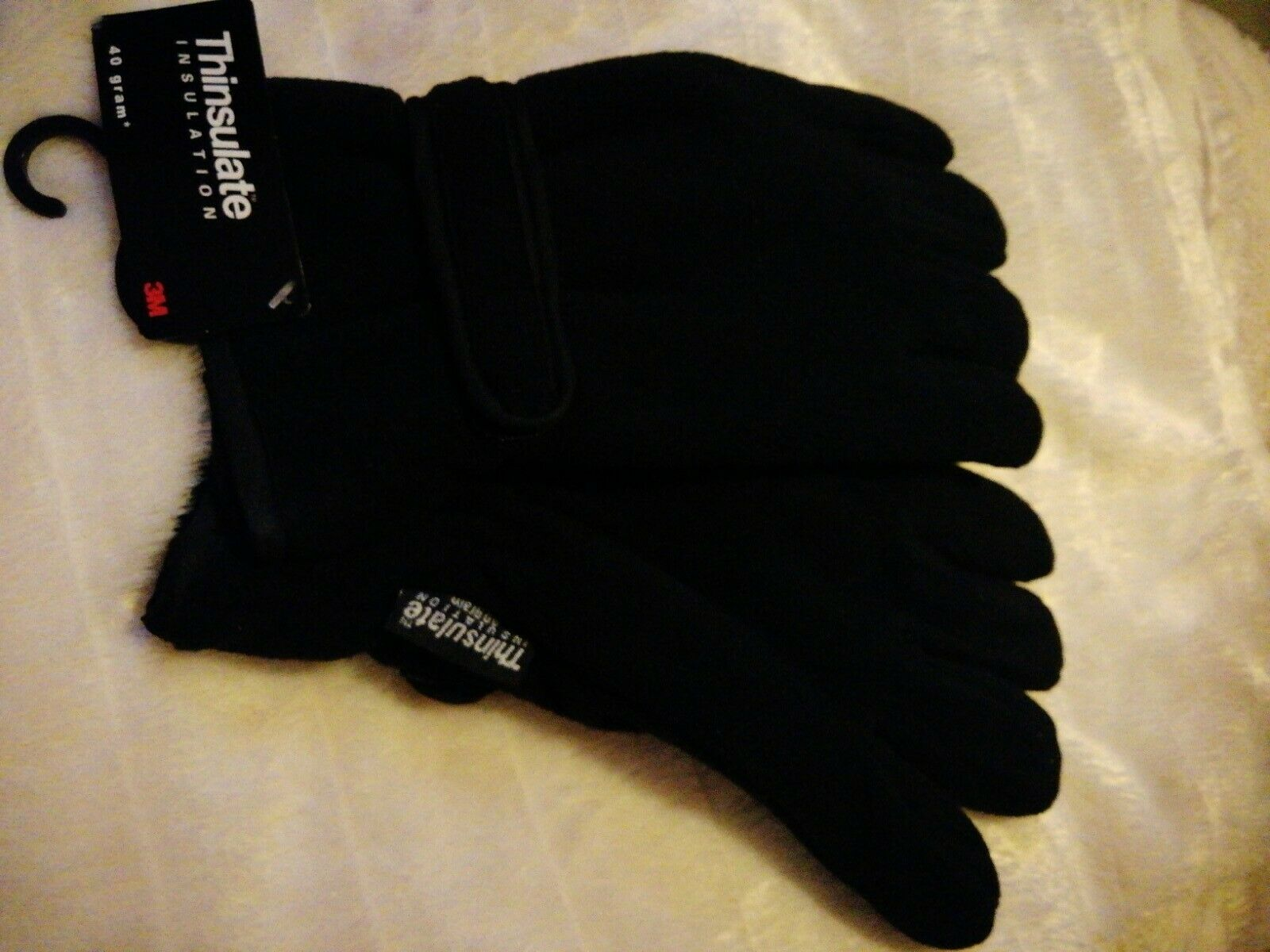 Mens Thinsulate Thermal black Winter Gloves New Size L/XL