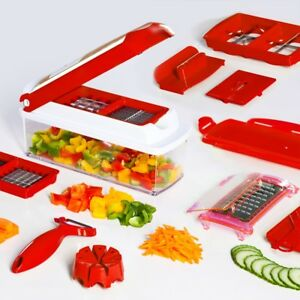genius nicer dicer plus 13 teilig rot limitierte sonderedition zubeh r ebay. Black Bedroom Furniture Sets. Home Design Ideas