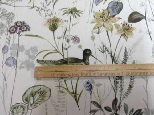 Los humedales Pájaro Sage prestigioso textiles de 140cm de Ancho Cortina//Tela Artesanal