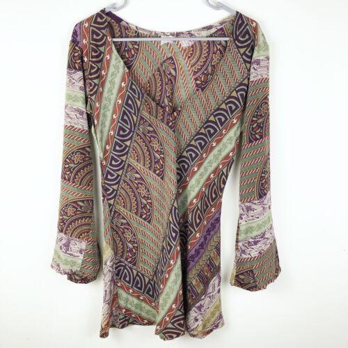 Dharma Imports Women's Silk Blend V-Neck Blouse