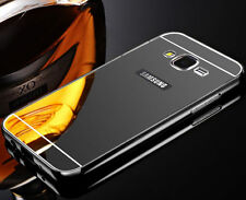 Black Aluminum Metal Mirror Case Cover For Samsung Galaxy Grand Prime G530 S001