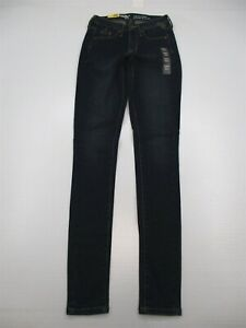 new-MOSSIMO-Jeans-Women-039-s-Size-0-Long-Power-Stretch-Dark-Wash-High-Rise-Skinny