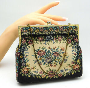 Image Is Loading Vintage Tapestry Purse 034 Princess Needlepoint Handbag