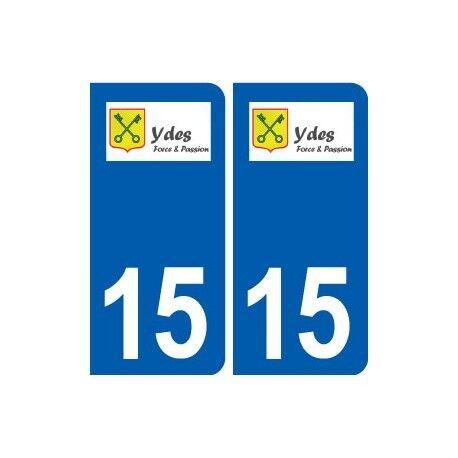 15 Ydes logo ville autocollant plaque sticker arrondis