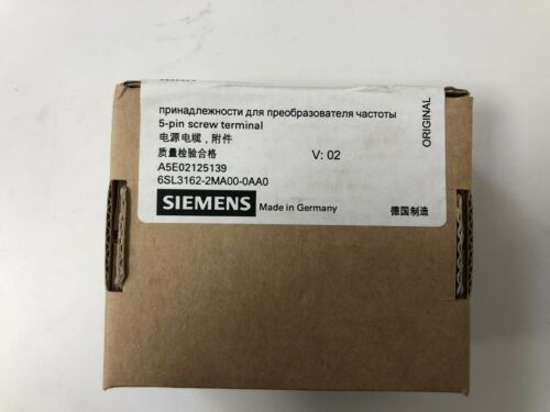 SIEMENS 6SL3162-2MA00-0AA0 5-Pin Screw Terminal