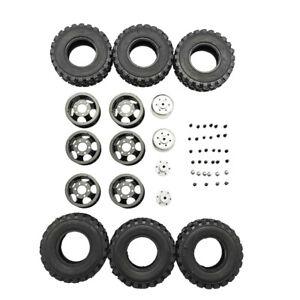For-WPL-B14-B24-Q62-Q63-1-16-RC-Car-Truck-4WD-Double-Tire-Metal-Wheel-DIY-KIT