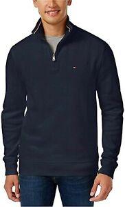 Tommy-Hilfiger-Men-039-s-1-4-Zip-Mockneck-Sweatshirt-Blue-Size-XL