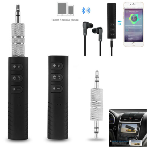 Wireless Bluetooth Car Kit AUX Audio Receiver Hands free 3.5mm Jack tools New sm