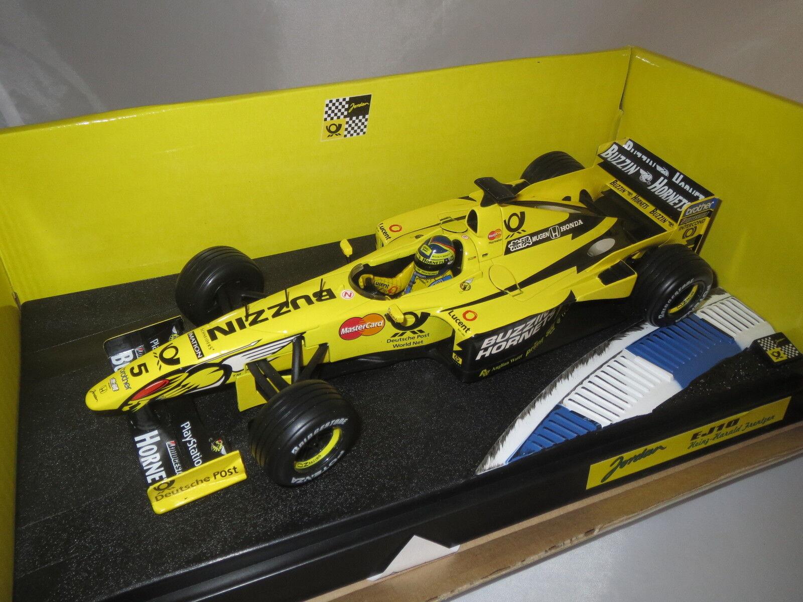 Hot Wheels Mattel  Formel 1  Heinz-H. Frentzen  Jordan Launch 2000   5 1 18 OVP