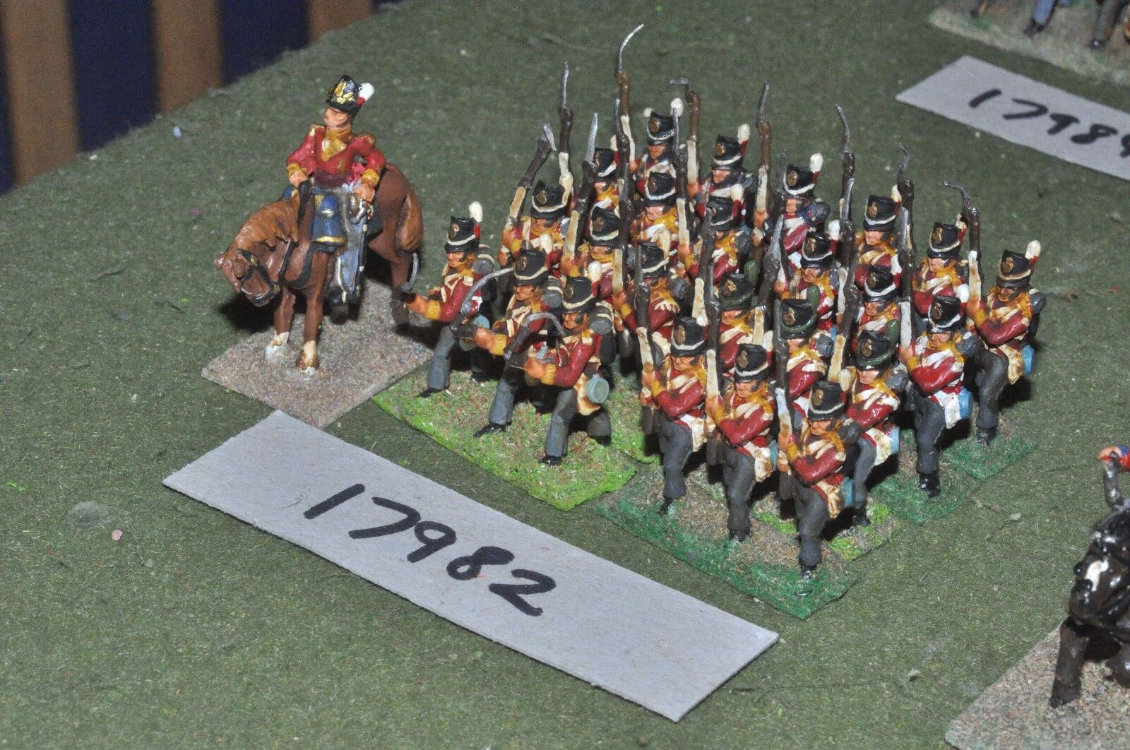 25mm napoleonic   british - infantry 25 figs - inf (17982)