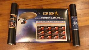 Canada-Post-Star-Trek-Uncut-Press-Sheet-Collection-Qtt3-LENTICULAR-50th-Ann