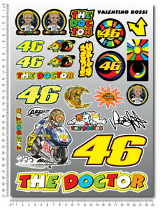 Details Zu Vale Rossi 46 The Doctor Decals Set Sheet 24 Stickers Yamaha Yzr M1 Laminated