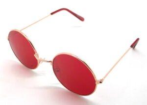 PT-Lunettes-de-Soleil-Hippie-Retro-Ronde-Homme-Femme-UV-400-Rouge