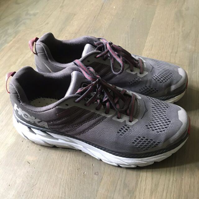 Hoka One One Clifton 6 Men's Size 10.5 2E Wide US - Gray/Red