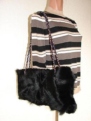Real Fur Bag Natural Genuine Fur Coyote Wolf Jackal