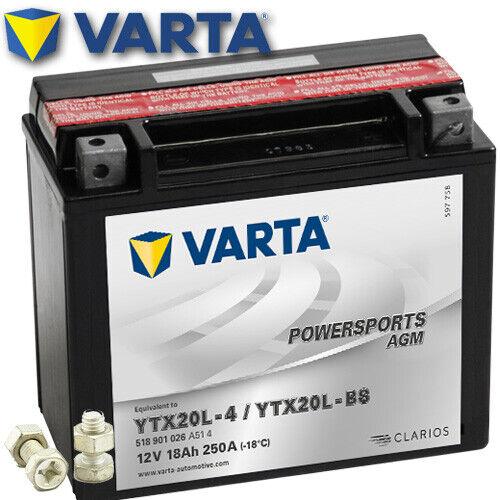 AGM Batería bombardier Outlander 800 XT año 2006 Varta ytx20l-bs
