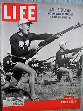 Life Magazine March 2, 1953/Adlai Stevenson/Formosa vs. Mainland/Solar Power  So