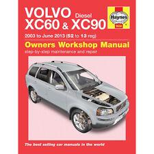 Volvo Xc60 XC90 2.0 2.2 Diesel 2003-june 2013 (52 a 13 Reg) Haynes Taller Hombre