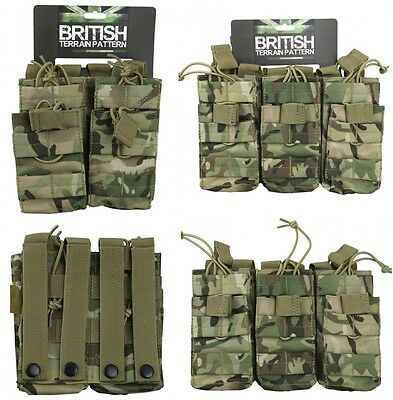 Army Combat Military Utility Duo Ammo Mag Magazine Pouch Double Triple Desert