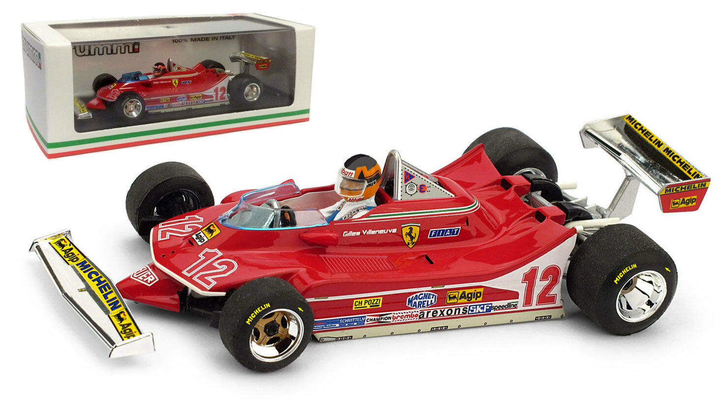 Brumm Ferrari 312 T4 nd French GP 1979 - Gilles Villeneuve 1 43 Scale