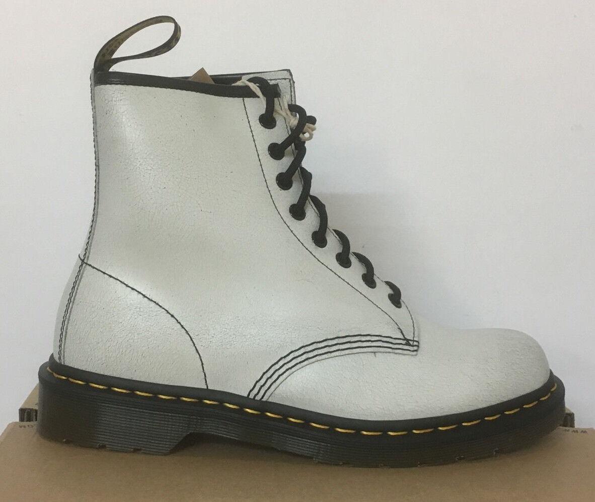 DR. MARTENS 1460  Weiß + BLACK   CRSTAL SUEDE LEATHER   Stiefel SIZE UK 3 fe9554