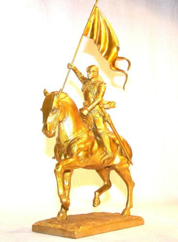 Statuette Jeanne d/'Arc beritten