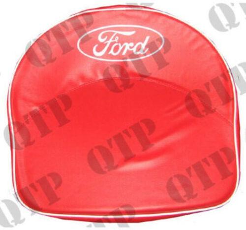 Ford Ferguson 2N 8N 9N N Series Tractor Padded Seat Pan Cushion Cover RED,Logo