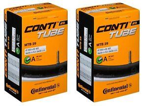 "47//62-622 2x Continental Fahrrad Schlauch Conti Tube MTB 29/""  SV Ventil 42 mm"