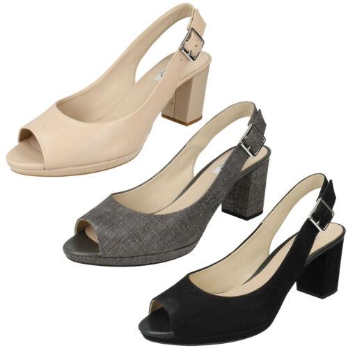 D'été Smart Toe Sandales Slingback Kelda Chaussures Printemps Peep D'été Mesdames Clarks Boucle L3Rj54A