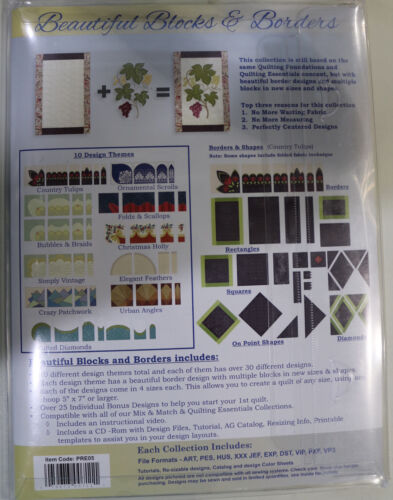 Anita Goodesign Premium Edition Collection Beautiful Blocks /& Borders Quilting