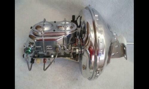 "1964-1972 GM Chrome 11/"" Brake Booster Bail Top Master Cylinder Disc Drum Valve"