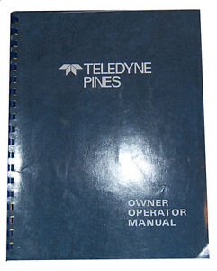 Teledyne Pines Model 3T and 5T, Operations Maintenance Schematics & Parts Manual