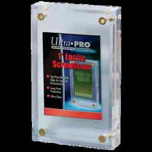 Ultra-Pro-1-034-Inch-Lucite-Brick-4-Screw-Card-Holder-Acrylic-Display-Slab