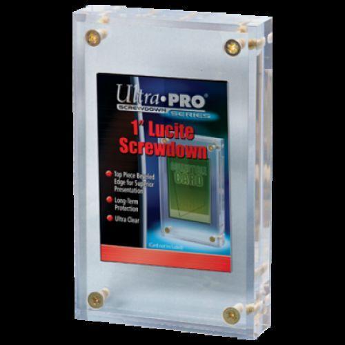 """Ultra Pro 1 /""""pulgadas Lucite Ladrillo 4-screw titular de tarjeta de exhibición de acrílico De Losa"""