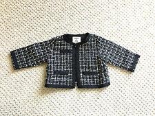 Old Navy baby girl black white tweed jacket cardigan 3-6 mos, Chanel look Easter
