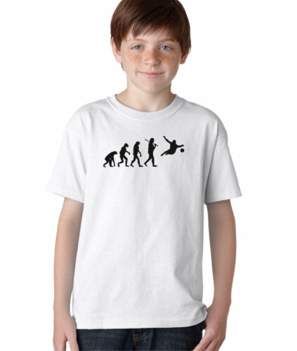 Hot4TShirts Evolution of Man Soccer Goalie T-Shirt For Kids