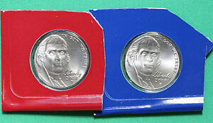 2010 P and D Jefferson Nickels 2 Coin UNC Cellos from US Mint Set 5 Cent Coins