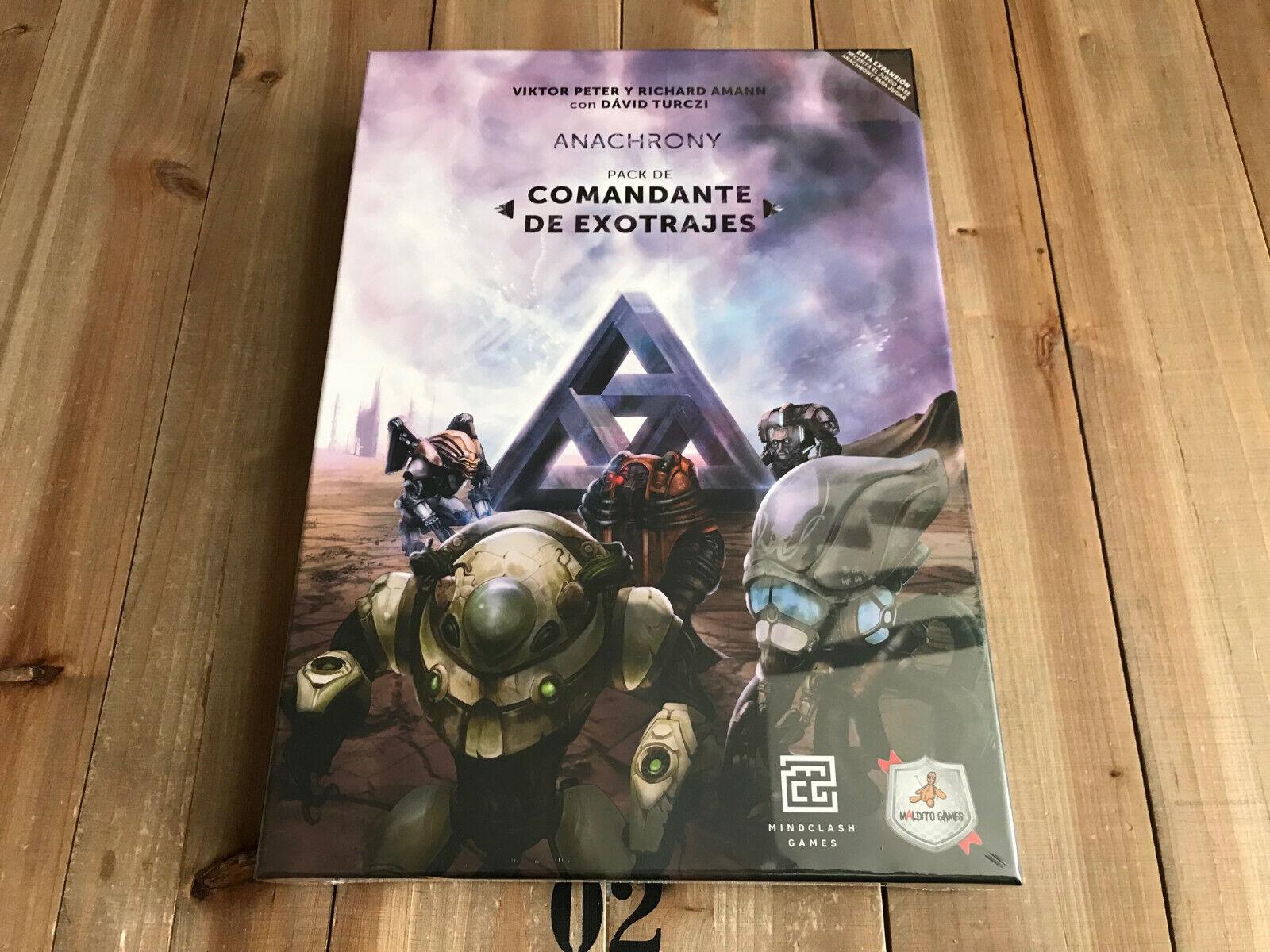 Juego de mesa - Comandante de Exotrajes - Expansión ANACHRONY - Maldito Games