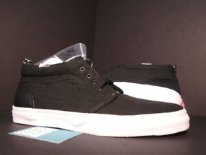 e4dca3235b 2011 VANS CANVAS CHUKKA  95 SUPREME BLACK WHITE PEBBLED LEATHER VN ...