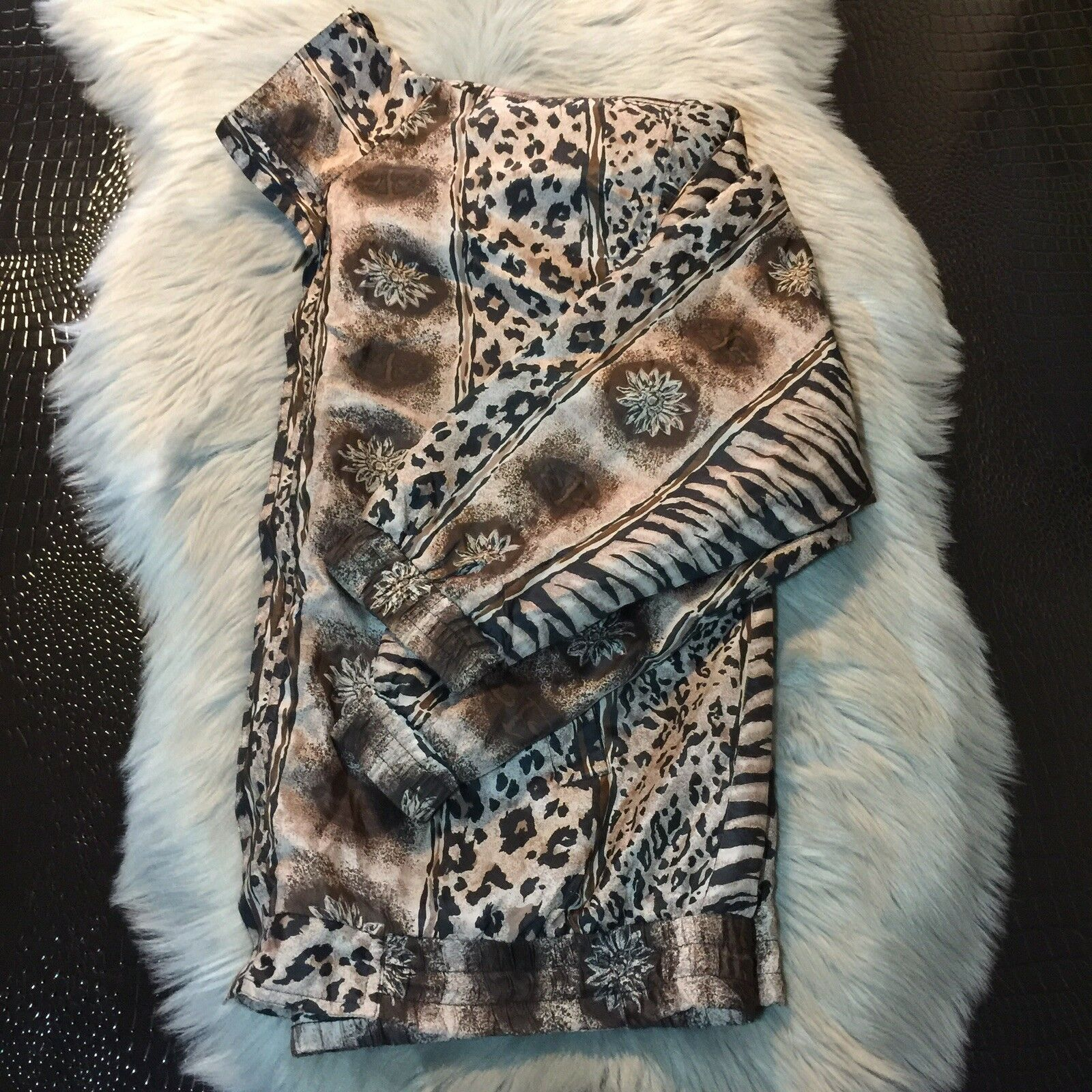 Women's Fuda International Zip Jacket ~ Sz L~ Ani… - image 4