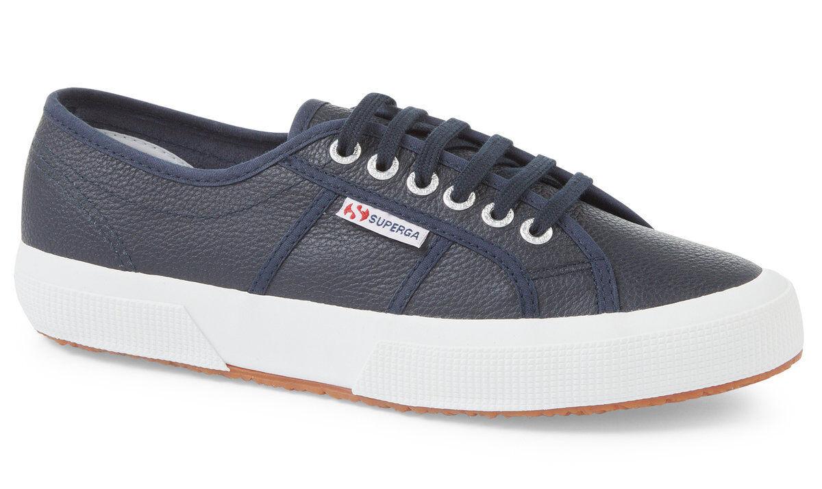 Superga EFGLU Leather shoes 2750 (Navy) Official UK Superga Stockist