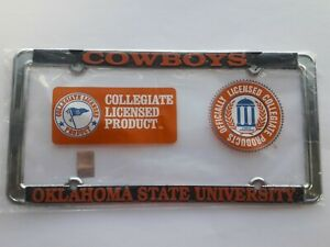 Oklahoma-State-Cowboys-Metal-License-Plate-Frame-Officially-Licensed-Car-Truck